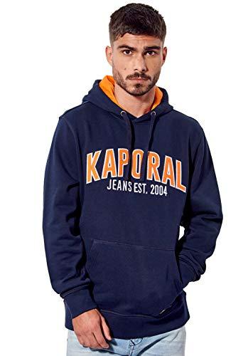 Kaporal - Sweat régular Homme imprimé à Capuche en 100% Coton - Vivek - Homme - XL - Bleu