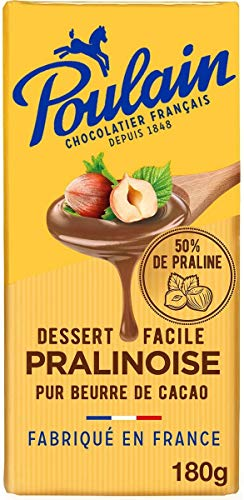 Poulain Tablette Chocolat Pralinoise 180 g