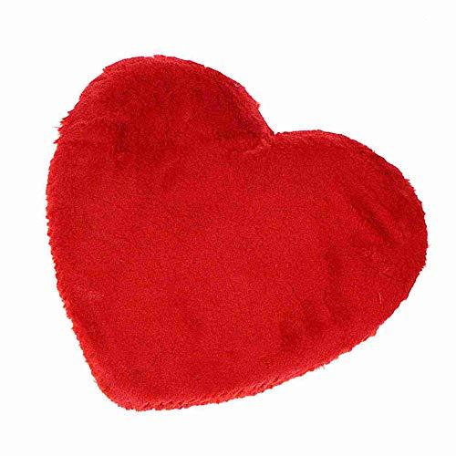 Othmar Stoffherz Fellherz Herz rot 30cm oder 40cm Valentin Liebe Amor Stoff Fell Plüsch, Größe:Ø 40 cm