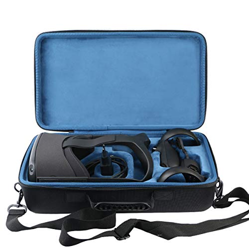 khanka case Tasche Schutzhülle für Oculus Quest All-in-one VR Gaming Headset 64GB 128GB. (Blau Futterstoff)