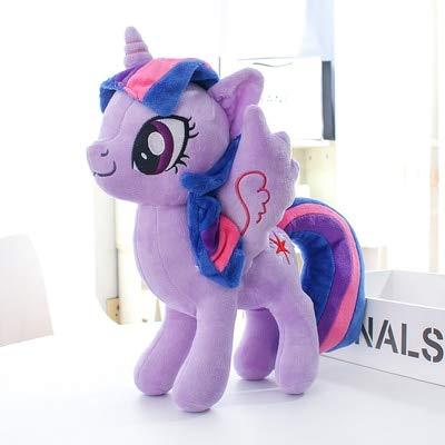 shenlanyu Giocattolo farcito Unicornio Princesa Púrpura Anime Ojos Grandes Figura De Dibujos Animados Animales De Peluche Caballo Peluche Muñeca Juguete para Niños Gran Regalo 12  Cm