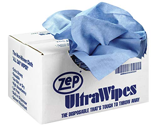 Zep Blue Ultra Wipes Shop Towel 895601(Case of 450 Wipes) 12 x 14 Inch Wipes, Great for Mechanics and Workshops