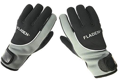 Fladen Angeln – Vollfinger-Handschuhe aus Neopren, Thinsulate-Fleece-gefüttert, mit Klettverschlüssen für das Handgelenk – zum Angeln und Arbeiten in kalten feuchten Bedingungen