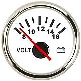 Car Boat Voltmeter Gauge Volt Meter 8-16 Volts Voltage Gauges for Caravan Marine with Red Backlight 9-32V 52mm