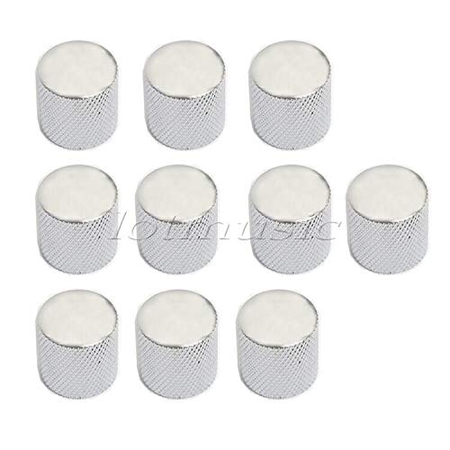 Guitar Parts50 Silver Metal Knob Max 78% OFF Push-On List price Dome Control