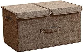 Double couverture Vêtements Boîte de rangement en tissu Armoire pliante Stockage Artifacts Lavable Chambre Stockage Panier...