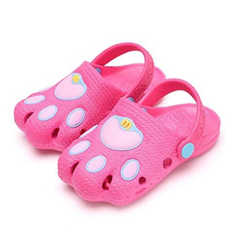 Summer Kid's Cute Garden Shoes Cartoon Closed-Toe Sandals Children Beach Slipper Toddler Shoes Slip-Resistant Sandals (Lavender, 17)