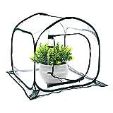 Hydrogarden Mini Serre Pop up Grow House, Couverture de Serre intérieure extérieure en PVC, Petit abri de Fleurs de Jardin Portable - 80 x 80 x 80 cm