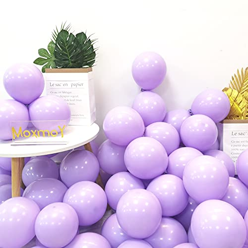 100pcs 10' Party Decoration Pastel color Balloons Macaron Candy Colored Latex Balloons for Birthday Wedding Engagement Anniversary Christmas Festival-Macaron Purple
