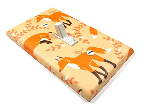 Orange Fox Light Switch Cover Plate