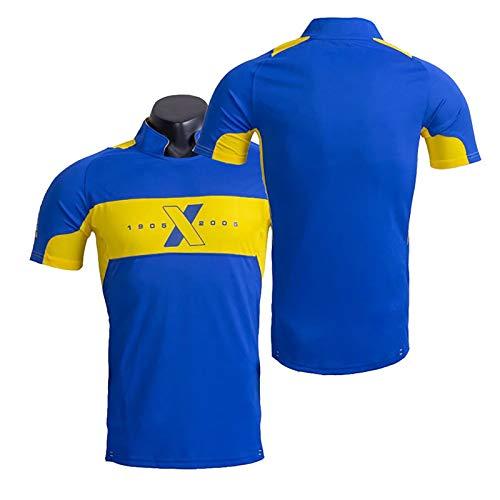 Camiseta De Fútbol Retro del Centenario, 2005 Año N ° 10 Camiseta De Fútbol De Maradonaa para Hombre Adulto, Edición Conmemorativa De Los Fanáticos, Tributo Al Clási Blue-S