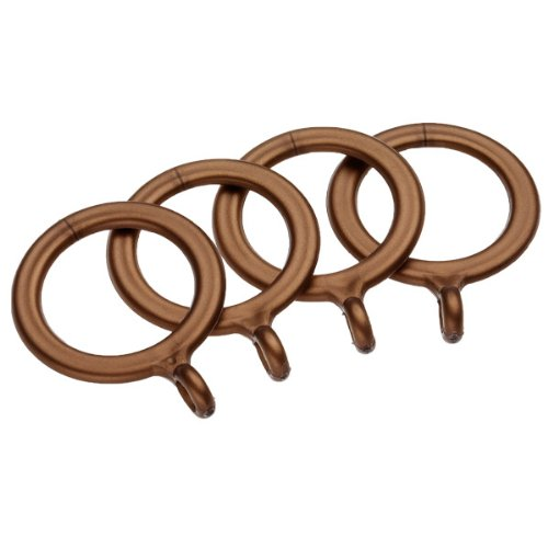 UNIVERSAL - Lot de 4 Anneaux en métal pour Tringle à Rideaux 13-16 mm - doré Mat