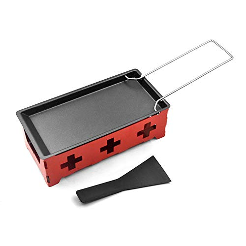 Lixada Mini Raclette Set Backblech Herd Spatel Zuhause Küche Grillen Werkzeug
