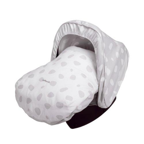 Petit Praia patch grijs e6431950 slaapzak - baby carrier met capuchon, grijs en wit