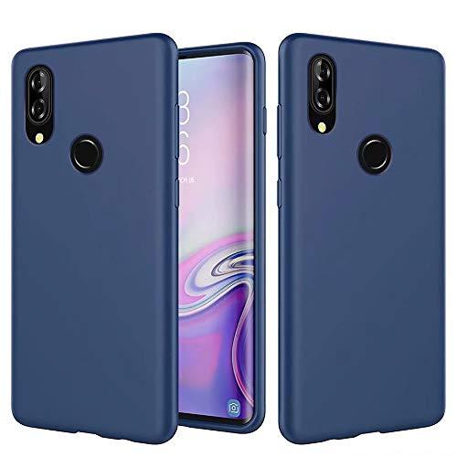 MUTOUREN Huawei P20 Lite Nova 3e Funda Silicona Líquido Delgado TPU Gel Goma Cover Case Full Protección Anti-Caída Flexible Carcasa Compatible con Huawei P20 Lite Nova 3e - Azul Oscuro