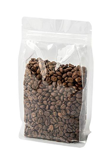 100 * transparante achtzijdige afdichting ritssluitingszak gedroogd fruit bloem thee koekje voedselverpakkingszak