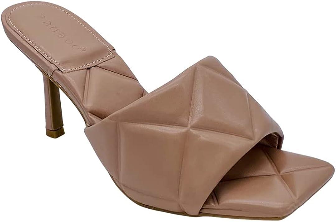 BAMBOO ZEAL- Puffy Open Toe Slip- ON Heel