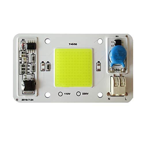 Tesfish LED motore 50W 220V COB chip bianca 6000K integrato con ingresso Smart IC driver Saldatura gratuita per proiettore a LED