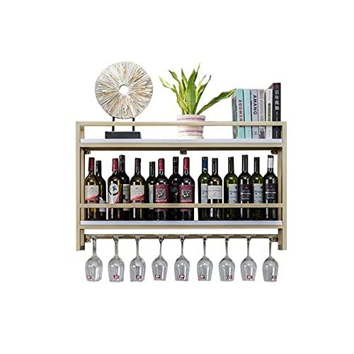 YIXINHUI Caja de Almacenamiento de Cocina Tenedor de Vino de Metal montado en Pared y Almacenamiento de Corcho de Vino para Cocina Comedor Bar Home & Kitchen Detor - Golden (Size : 100 * 20 * 61CM)