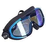 Alomejor Gafas de nataci¨®n Deportes al aire libre Gafas de nataci¨®n de montura grande Protecci¨®n profesional Gafas de nataci¨®n para adultos(Azul y negro)