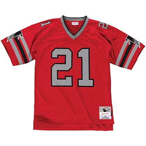 Mitchell & Ness Deion Sanders #21 Atlanta Falcons Legacy Throwback NFL Trikot Rot, XXL