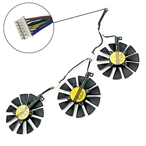 iHaospace PLD09210S12HH Video Card Cooling Fan for ASUS Strix Raptor GTX 980Ti R9 390X R9 390 GTX 1060 GTX 1070 GTX 1080 RX480 88mm 6 Pin Graphics Card Cooler Cooling Fans