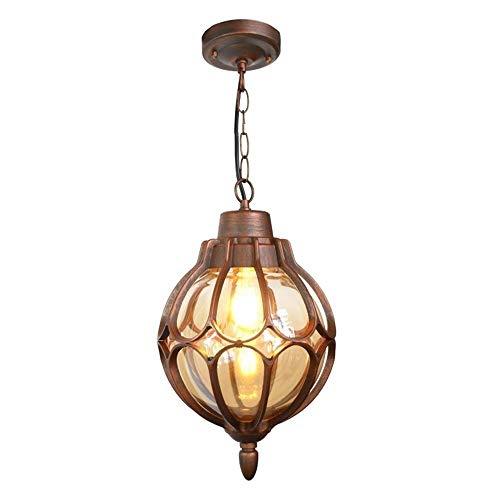 Lámpara colgante impermeable al aire libre Victoria Vintage Loft Barn Lámpara colgante Retro Lámpara colgante Pantalla Lámparas de suspensión de aluminio Lámpara de porche de villa mediterránea, E27