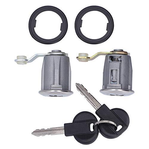 Qiilu Cerradura de Puerta de Coche Cilindro de Llaves de Aleación de Aluminio 252522 9170-G3 Apto para Citroen Berlingo/Xsara