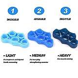 Zoom IMG-1 kindax 3pcs finger exerciser elastici