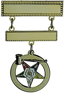 Worthy Matron Gavel Jewel OES Eastern Star Accessory Top Bar 1 1/2 inch wide Middle bar 1 1/4 inch wide, 3D Gavel Star is one inch wide.