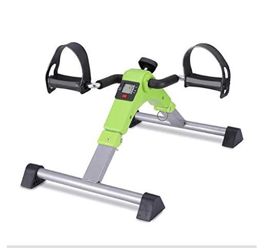 UIZSDIUZ Entrenador de Pedal, Pedal de Ejercicio Ajustable Pedal Ejercitador de Pedal portátil Debajo de la Mesa, con Pantalla electrónica