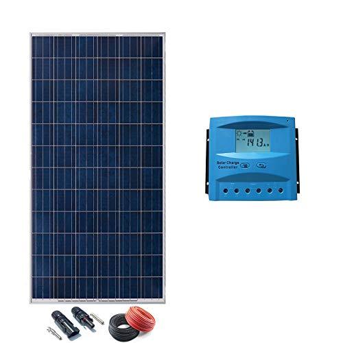 Kit Solar 24v 500w a 2000w Hora Regulador 40a con LCD (2 paneles)