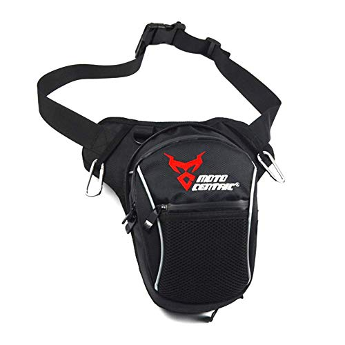 Luyao Wasserfest Motorrad Taschen Bein Tasche Außen Fahrrad Tasche Oxford Tuch Herren Kuriertasche Tragetasche - Rot, 26.5 * 20 * 10cm