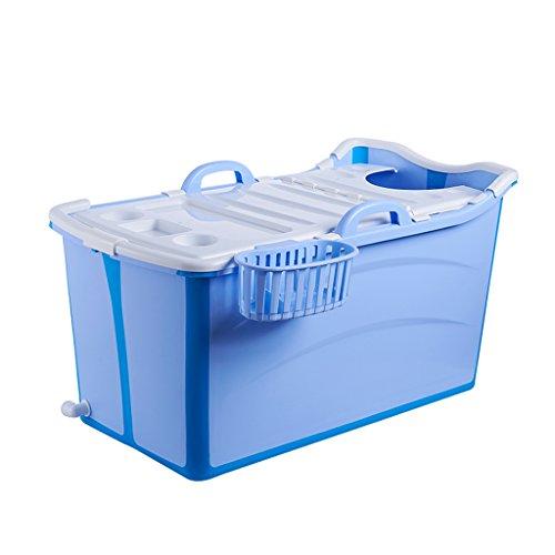 XUANLAN Starke Extralange erwachsene Plastikbadewanne, Badewanne der Haushalts-Kinder, bewegliches faltendes Bad-Fass L90 * W42 * H50CM ( Color : A )