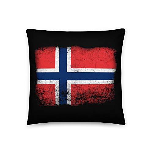 Noorse vlag Noorwegen kussen hoofdkussen