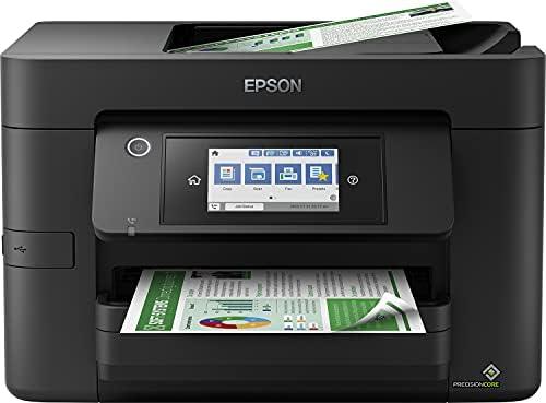 Epson Imprimante WorkForce Pro WF-4820DWF, Multifonction 4-en-1 : Imprimante recto verso / Scanner / Copieur / Fax, A4, Jet d'encre couleur, Wifi Direct, Ethernet, Chargeur, Compact