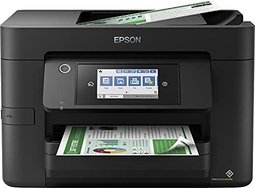 Epson Workforce Pro WF-4820DWF 4-in-1 Business Tintenstrahl-Multifunktionsgerät (Drucker, Scanner, Kopierer, Fax, ADF, WiFi, Ethernet, NFC, Duplex, Einzelpatronen, DIN A4) schwarz