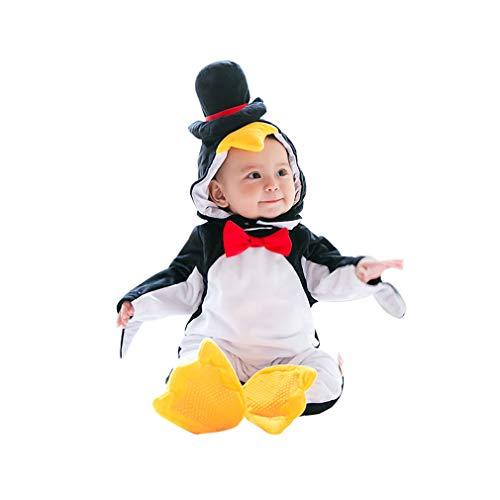 Disfraz Animal Infantil,Unisexo Bebé Pyjamas Cosplay Pingüino Traje Conjunto de Ropa Halloween Carnaval