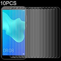 AYLSM Huawei y5プライム(2018)のためのAYDD 10PCS 0.26mm 9H 2.5D強化ガラスフィルム
