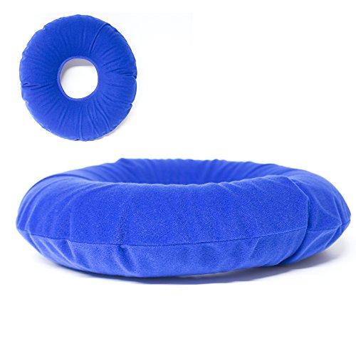 Hämorrhoiden Kissen von Mabela l ringförmiges Anti Dekubitus Sitzkissen zur Linderung von Schmerzen am Gesäß, Steißbein, Prostata, Rücken l aufblasbarer Sitzring auch während Schwangerschaft