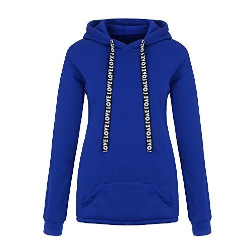 Covermason Mode Femme Nouveau Automne Hiver Sweatshirt Femmes Solide Letters Manche Longue Sweat à Capuche Pullover Sweat-Shirt Chemisier