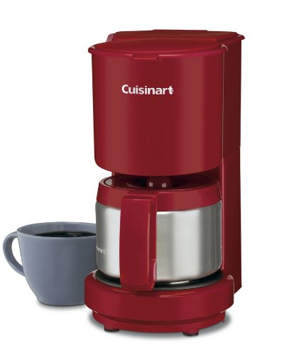 Cuisinart DCC-450R 4-Cup Coffeemaker with Stainless Steel Carafe, Red