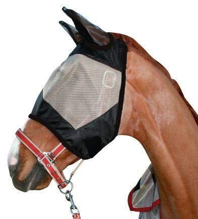 HKM Fliegenschutzmaske -Protection-, Taupe/schwarz, Pony