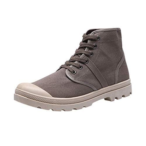 HUADUO Zapatos de Lona para Hombre, Zapatos Casuales de Moda Coreana, Zapatos Deportivos, Zapatillas de Deporte al Aire Libre, Zapatos Diarios, Zapatos de Tabla Informales