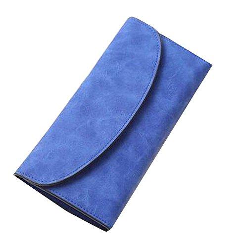 Retro Bleu Femmes Argent comptant / Card Wallet / Purse / Protector