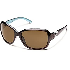Suncloud Polarized Sunglasses Weave in Tortoise Backpaint with Brown Lens