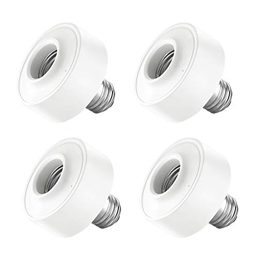 MOZUN E27 European Standard Smart WiFi Lamp Holder Lamp Holder, Led Bulb Lamp Holder Lamp Holder Switch Adapter European Standard, Google Amazon Echo Alexa Voice Control