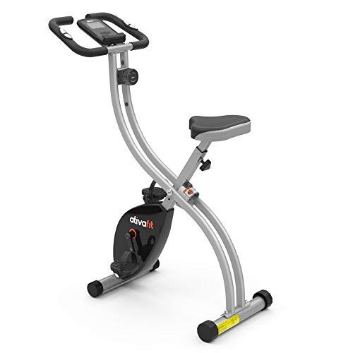 ATIVAFIT X-Bike Sport Fitnessfahrrad für Heimtrainer Fitnessbike für Ober-Und Unterkörper x-Bike mit Handpulsmessung & LCD Monitor faltbares Standfahrrad Fitnessgerät für Zuhause Büro Training