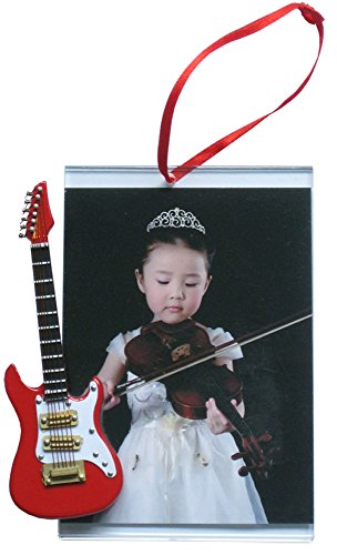 Music Treasures Co. Bilderrahmen Ornament mit roter E-Gitarre
