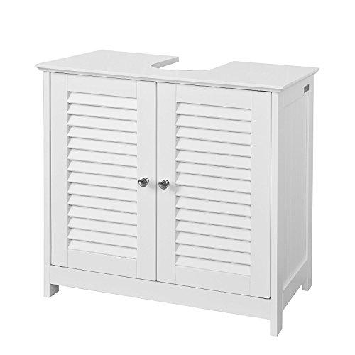 SoBuy® FRG237-W Waschbeckenunterschrank Badschrank Unterschrank in weiß BHT ca: 60x58x34cm